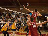 STANFORD, CA - March 10, 2018: Kevin Rakestraw at Burnham Pavilion. The Stanford Cardinal lost to UC Irvine, 3-0.