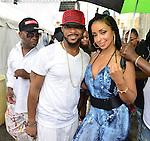 MIAMI, FL - JULY 25: Larry Dog, Xavier Lewis and Mýa backstage during the Overtown Music and Arts Festival at the historic Overtown district of Miami on Saturday July 25, 2015 in Miami, Florida. ( Photo by Johnny Louis / jlnphotography.com )