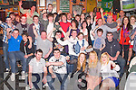 18TH BIRTHDAY: Joshua Kelly, Kilflynn (seated 5th left) enjoying a great time celebrating his 18th birthday with family and friends at the Huddle bar, Tralee on Saturday.