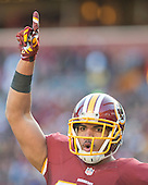 Washington Redskins tight end Jordan Reed (86) celebrates after scoring a touchdown in the second quarter against the Buffalo Bills at FedEx Field in Landover, Maryland on Sunday, December 20, 2015.<br /> Credit: Ron Sachs / CNP
