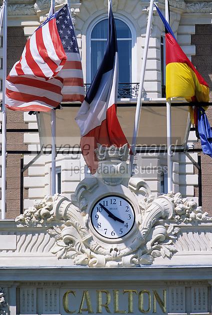 France/06/Alpes-Maritimes/Cannes: L'hotel Carlton intercontinental sur la croisette - Détail