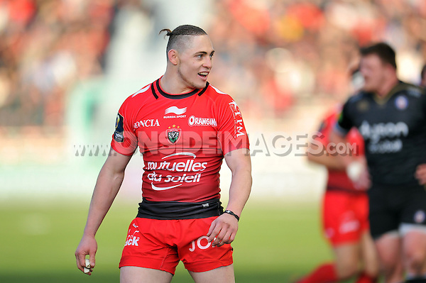 James O'Connor of Toulon looks on during a break in play. European Rugby Champions Cup match, between RC Toulon and Bath Rugby on January 10, 2016 at the Stade Mayol in Toulon, France. Photo by: Patrick Khachfe / Onside Images