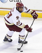 Malcolm Lyles (BC - 23) - The Boston College Eagles defeated the Northeastern University Huskies 5-1 on Saturday, November 7, 2009, at Conte Forum in Chestnut Hill, Massachusetts.