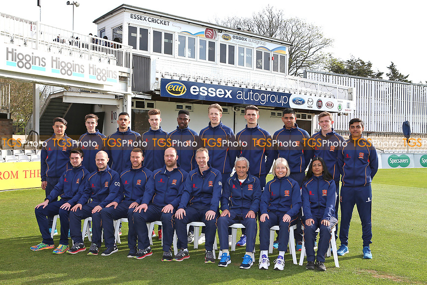 Essex CCC Academy team photograph during the Essex CCC Press Day at The Cloudfm County Ground on 5th April 2017