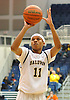 Shane Gatling #11 of Baldwin shoots a free throw during the Nassau County varsity boys basketball Class AA semifinals against Massapequa at Hofstra University on Tuesday, Feb. 23, 2016. Top-seeded Baldwin had a 23-21 lead at halftime.