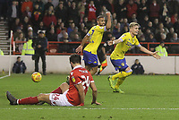 Leeds United's Ezgjan Alioski celebrates scoring his sides second goal <br /> <br /> Photographer Mick Walker/CameraSport<br /> <br /> The EFL Sky Bet Championship - Nottingham Forest v Leeds United - Tuesday 1st January 2019 - The City Ground - Nottingham<br /> <br /> World Copyright &copy; 2019 CameraSport. All rights reserved. 43 Linden Ave. Countesthorpe. Leicester. England. LE8 5PG - Tel: +44 (0) 116 277 4147 - admin@camerasport.com - www.camerasport.com