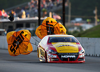 Jun 3, 2016; Epping , NH, USA; NHRA pro stock driver Jeg Coughlin Jr during qualifying for the New England Nationals at New England Dragway. Mandatory Credit: Mark J. Rebilas-USA TODAY Sports
