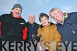 Memorial Cup: Holding the Thomas Lyndon Memorial Cup in Tarbert on Sunday afternoon were Patsy OConnor, Manager of the Tarbert GAA Senior Team; Richie Lyndon; Kathleen Lyndon and Paddy Creedon, Chairperson of the Thomas Lyndon Memorial Foundation.