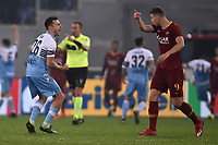 Stefan Radu of Lazio provokes Edin Dzeko of AS Roma celebrating the victory of his team <br /> Roma 2-3-2019 Stadio Olimpico Football Serie A 2018/2019 SS Lazio - AS Roma <br /> Foto Andrea Staccioli / Insidefoto