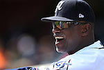 Reno Aces Coach Tack Wilson works the sidelines of a game against Fresno at Greater Nevada Field in Reno, Nev., on Tuesday, April 26, 2016. <br />