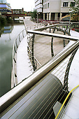 New footbridge over the Regent's Canal, part of the redevelopment of Paddington Basin, City of Westminster, London.