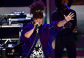 Alicia Keys performs during the second session of the 2016 Democratic National Convention at the Wells Fargo Center in Philadelphia, Pennsylvania on Tuesday, July 26, 2016.<br /> Credit: Ron Sachs / CNP<br /> (RESTRICTION: NO New York or New Jersey Newspapers or newspapers within a 75 mile radius of New York City)