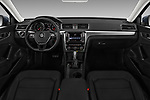 Stock photo of straight dashboard view of 2017 Volkswagen Passat R-Line 4 Door Sedan Dashboard