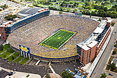 University of Michigan football victory over Connecticut at Michigan Stadium on September 4, 2010..
