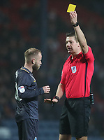 Sheffield Wednesdays' Barry Bannan receives a yellow card <br /> <br /> Photographer Rachel Holborn/CameraSport<br /> <br /> The EFL Sky Bet Championship - Blackburn Rovers v Sheffield Wednesday - Saturday 1st December 2018 - Ewood Park - Blackburn<br /> <br /> World Copyright © 2018 CameraSport. All rights reserved. 43 Linden Ave. Countesthorpe. Leicester. England. LE8 5PG - Tel: +44 (0) 116 277 4147 - admin@camerasport.com - www.camerasport.com