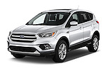 2017 Ford Escape SE 5 Door SUV Angular Front stock photos of front three quarter view