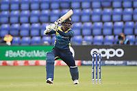 Dimuth Karunaratne (Sri Lanka) drives to point during Afghanistan vs Sri Lanka, ICC World Cup Cricket at Sophia Gardens Cardiff on 4th June 2019