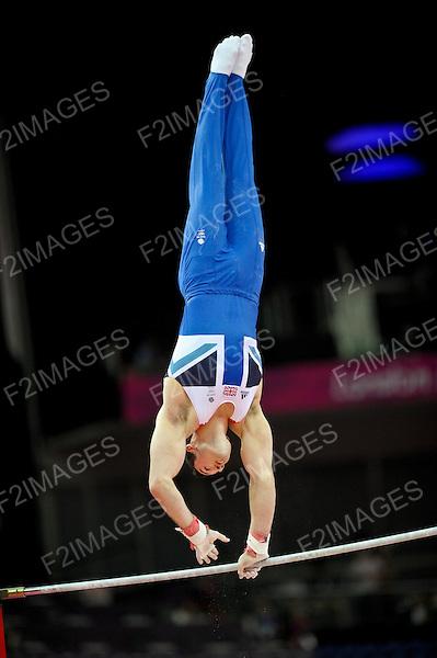Olympics London 2012. Gymnastics Mens Qualifications 28.7.12. Greenwich Arena. Sam Oldham