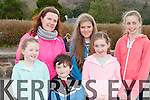 Ella Foley, Karen Foley, Odhran Foley, Ellen Sugrue, Sadbh Foley and Natalie Sheehan who ran in the Glounaguillagh NS, Caragh lake 5k on Sunday