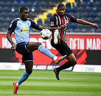 Marcus Thuram (Borussia Moenchengladbach), Almamy Toure (Eintracht Frankfurt)<br />  - 16.05.2020, Fussball 1.Bundesliga, 26.Spieltag, Eintracht Frankfurt  - Borussia Moenchengladbach emspor, v.l. Stadionansicht / Ansicht / Arena / Stadion / Innenraum / Innen / Innenansicht / Videowall<br /> <br /> <br /> Foto: Jan Huebner/Pool VIA Marc Schüler/Sportpics.de<br /> <br /> Nur für journalistische Zwecke. Only for editorial use. (DFL/DFB REGULATIONS PROHIBIT ANY USE OF PHOTOGRAPHS as IMAGE SEQUENCES and/or QUASI-VIDEO)