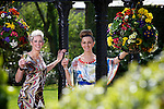 Pix: Shaun Flannery/shaunflanneryphotography.com..COPYRIGHT PICTURE>>SHAUN FLANNERY>01302-570814>>07778315553>>..23rd April 2010...........Doncaster Racecourse - St Leger Festival - Best Dressed Lady Competition..Natalie and Eleanor, Doncaster heat and Yorkshire Racing Festival overall winner pictured at the Mount Pleasant Hotel, Doncaster.