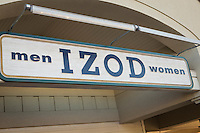 Izod sstore is pictured in Tanger Outlets in Sevierville,  Tennessee Thursday March 20, 2014.