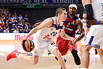 Real Madrid's Jaycee Carroll and FC Barcelona Lassa's Tyrese Rice duringTurkish Airlines Euroleague match between Real Madrid and FC Barcelona Lassa at Wizink Center in Madrid, Spain. March 22, 2017. (ALTERPHOTOS/BorjaB.Hojas)