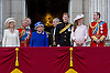 THE QUEEN AND FAMILY<br /> watch the flypast by the RAF on the balcony of Buckingham Palace during Trooping of the Colour.<br /> The Duke of Edinburgh missed the event as he is hospitalised after undergoing surgery.<br /> The Trooping marks the official birthday of the Queen_15/6/2013<br /> Mandatory Credit Photo: &copy;NEWSPIX INTERNATIONAL<br /> <br /> **ALL FEES PAYABLE TO: &quot;NEWSPIX INTERNATIONAL&quot;**<br /> <br /> IMMEDIATE CONFIRMATION OF USAGE REQUIRED:<br /> Newspix International, 31 Chinnery Hill, Bishop's Stortford, ENGLAND CM23 3PS<br /> Tel:+441279 324672  ; Fax: +441279656877<br /> Mobile:  07775681153<br /> e-mail: info@newspixinternational.co.uk