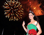 20-08-2013:  Haley O'Sullivan, Texas Rose , under the festival fireworks display after she was crowned  the 2013 Rose of Tralee  on Tuesday night.    Picture: Eamonn Keogh (MacMonagle, Killarney)