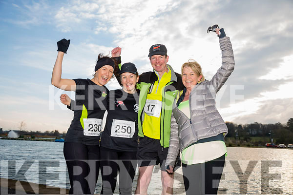Martina Lawless, Caroline Lynch, Mark Boyle and Fidelma Boyle, participants in the Kerry's Eye Valentines Weekend 10 mile road race on Sunday.