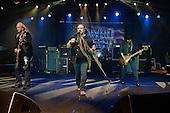 POMPANO BEACH FL - FEBRUARY 10: Rickey Medlocke, Johnny Van Zant and Gary Rossington of Lynyrd Skynyrd perform at The Pompano Beach Amphitheater on February 10, 2017 in Pompano Beach, Florida. Photo by Larry Marano © 2017
