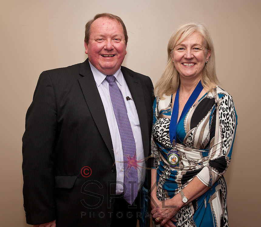 Keynote speaker Stuart Campbell of North Midland Construction with NCBC Club president Dianne Allen