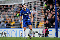 Pedro of Chelsea reacts after missing an opportunity to open the scoring during Chelsea vs Wolverhampton Wanderers, Premier League Football at Stamford Bridge on 10th March 2019