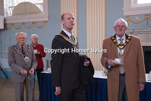 Hercules Clay Penny Loaf Day. The reception in the Town Hall is attended by about 100 guests including many Lord Mayors from neighborliness towns in Nottinghamshire.<br />