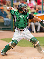 GREEN BAY - June 2015: Green Bay Bullfrogs catcher Desi Ammons (21) during a Northwoods League game against the Kenosha Kingfish on June 21st, 2015 at Joannes Park in Green Bay, Wisconsin. Green Bay defeated Kenosha 10-7. (Brad Krause/Krause Sports Photography)