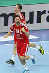 21.01.2013 Barcelona, Spain. IHF men's world championship, Eighth Final. Picture show Grabarczyk  in action during game Hungary vs Poland at Palau St Jordi