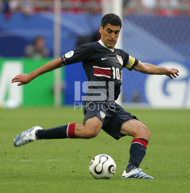 USA's Claudio Reyna. The Czech Republic defeated the USA 3-0 in their FIFA World Cup Group E match at FIFA World Cup Stadium, Gelsenkirchen, Germany, June 12, 2006.