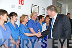 Minister of Health got to meet Drs,Nurses and staff of the newly refurbish Endoscopy Unit Kerry General on Monday.