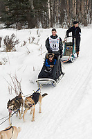 Tom Knolmayer w/Iditarider on Trail 2005 Iditarod Ceremonial Start near Campbell Airstrip Alaska SC