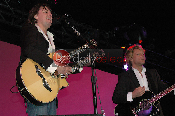 Richie Sambora and Jon Bon Jovi<br />