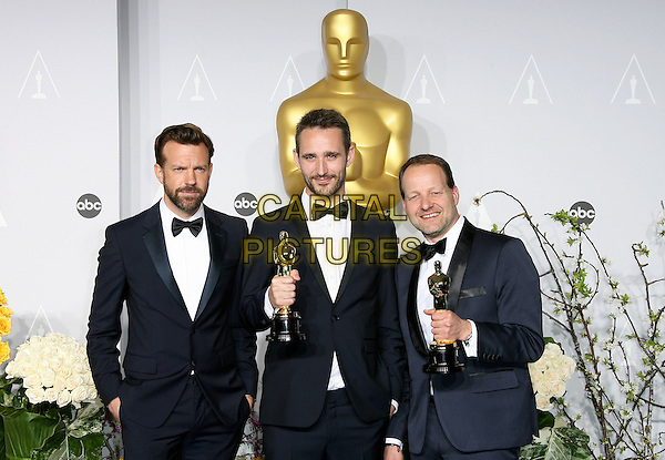 02 March 2014 - Hollywood, California - Jason Sudeikis, Anders Walter, Kim Magnusson. 86th Annual Academy Awards held at the Dolby Theatre at Hollywood &amp; Highland Center. <br /> CAP/ADM<br /> &copy;AdMedia/Capital Pictures