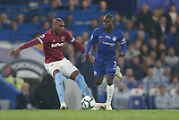 Chelsea's Ngolo Kante and West Ham United's Angelo Ogbonna<br /> <br /> Photographer Rob Newell/CameraSport<br /> <br /> The Premier League - Chelsea v West Ham United - Monday 8th April 2019 - Stamford Bridge - London<br /> <br /> World Copyright &copy; 2019 CameraSport. All rights reserved. 43 Linden Ave. Countesthorpe. Leicester. England. LE8 5PG - Tel: +44 (0) 116 277 4147 - admin@camerasport.com - www.camerasport.com