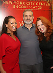 """Vanessa Williams, Marc Kudisch and Carolee Carmello attends the final performance after party for the New York City Center Encores! at 25 production of  """"Hey, Look Me Over!"""" on February 11, 2018 at the City Center Theatre in New York City."""