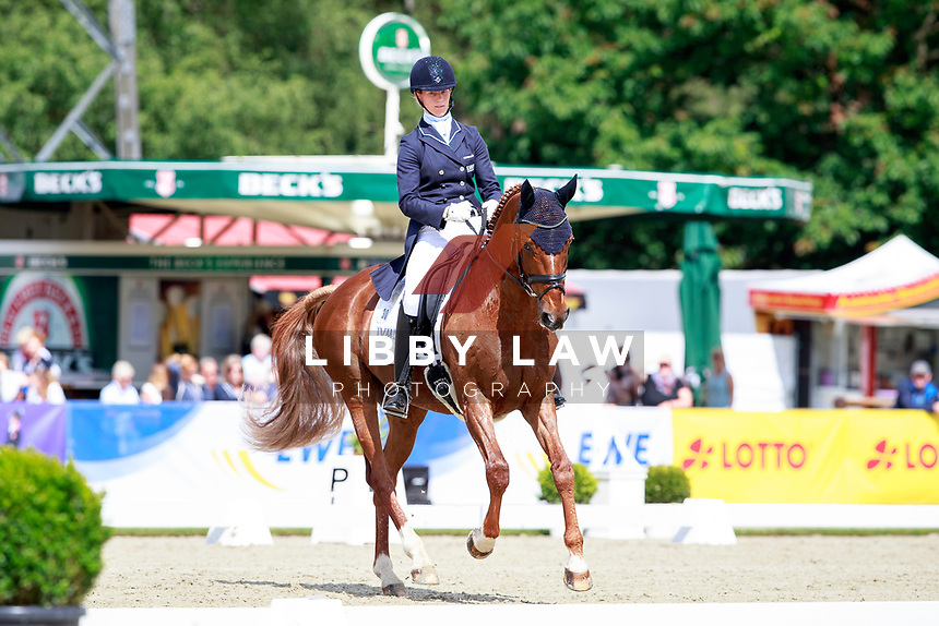 GER-Sandra Auffarth rides Opgun Louvo into 6th position during the 2nd day of Dressage, CIC3* Meßmer Trophy - German Eventing Championship, at the 2017 Luhmühlen International Horse Trial. Friday 16 June. Copyright Photo: Libby Law Photography