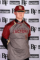 Joshua Brown (16) of Faith Lutheran High School in Las Vegas, Nevada during the Baseball Factory All-America Pre-Season Tournament, powered by Under Armour, on January 12, 2018 at Sloan Park Complex in Mesa, Arizona.  (Mike Janes/Four Seam Images)