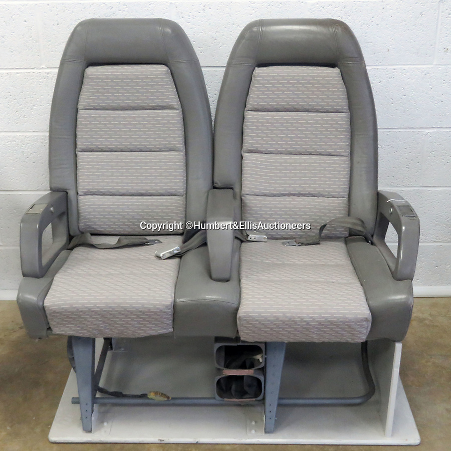 BNPS.co.uk (01202 558833)<br /> Pic: Humbert&EllisAuctioneers/BNPS<br /> <br /> Sitting pretty... a pair of Concorde seats dating back to 1995 are also up for grabs. <br /> <br /> A  rare set of rudders that flew supersonic on a Concorde jet have emerged for sale at auction for a whopping £6,000.<br /> <br /> The pieces are painted in British Airways blue, red and white and are set to excite aeroplane buffs desperate to get their hands on a chunk of history.<br /> <br /> The upper rudder measures 4.1ft by 10.7ft by 4.4ft and has a BA Engineering cut out which was made to inspect for corrosion.<br /> <br /> Also included in the same sale are a pair of Concorde seats dating back to 1995.<br /> <br /> After being removed from the aircraft by BA they went on to be displayed on pre-production Concorde 101 G-AXDN plane.<br /> <br /> They are now mounted on wooden base for display purposes and come complete with original electrical connections.