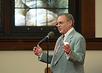 NWA Democrat-Gazette/BEN GOFF @NWABENGOFF<br /> Jimmy Schulttes shares a joke with the congregation on Sunday March 13, 2016 during the Laughter Sunday service at First United Methodist Church in Rogers.