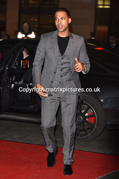 NON EXCLUSIVE PICTURE: MATRIXPICTURES.CO.UK<br /> PLEASE CREDIT ALL USES<br /> <br /> WORLD RIGHTS<br /> <br /> English television and radio presenter and former JLS member, Marvin Humes attending The BRIT Awards 2015 Universal Music afterparty, at The Old Sorting Office in London. <br /> <br /> FEBRUARY 25th 2015<br /> <br /> REF: SLI 15637