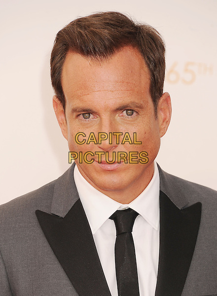 Will Arnett<br /> arrives at the 65th Annual Primetime Emmy Awards at Nokia Theatre L.A. Live in Los Angeles, California, USA, <br /> September 22nd 2013. <br /> emmys arrivals portrait headshot black grey gray suit white shirt <br /> CAP/ROT/TM<br /> &copy;TM/Roth Stock/Capital Pictures