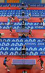 8/14/04 --Al Diaz/Miami Herald/KRT--Athens, Greece--Table tennis at Galasti Olympic Hall during the Athens 2004 Olympic Games. Action during Men's Singles in Round 1.